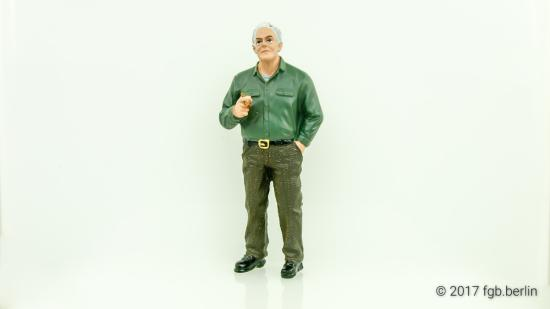 American Diorama Mechaniker Jim der Boss