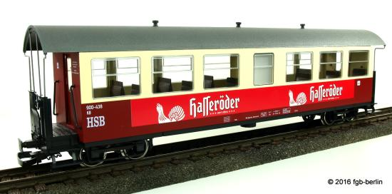 Train Line HSB Personenwagen 7 Fenster 900-438