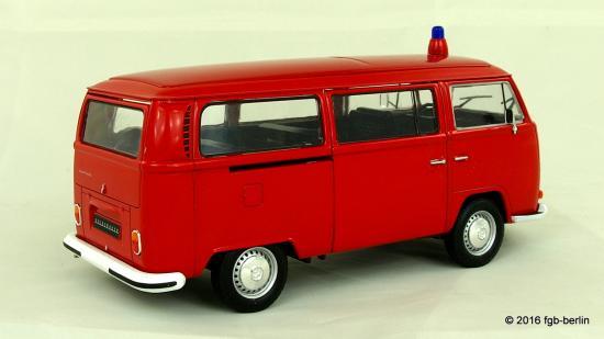 welly vw t2 bus feuerwehr 1972 fgb berlin. Black Bedroom Furniture Sets. Home Design Ideas