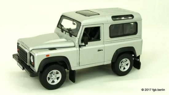 Welly Land Rover Defender, silber