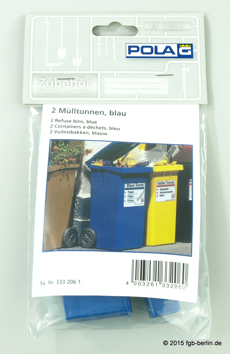 Pola 333206 Mülltonnen blau 2 Stück