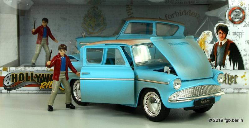 Jada 1959 Ford Anglia mit Harry Potter Figur